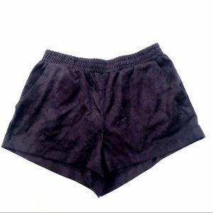 Forever 21 Black Suede Shorts